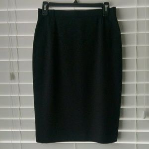 Escada new wool straight black pencil skirt 38
